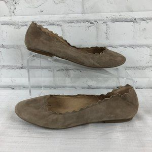 Audrey Brooke Womens 8.5 M Tan Suede Leather Flats
